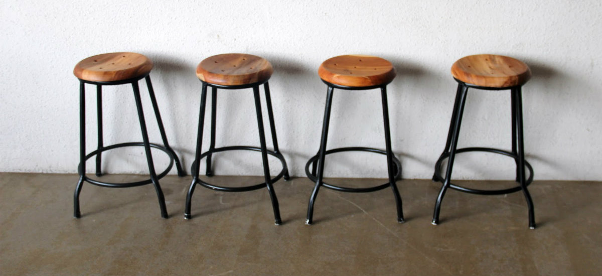Must Have 2015: Industrial Bar Chairs with Metal Base