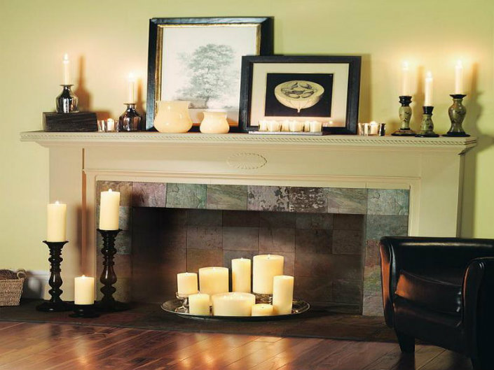 Candles Decoration Ideas For Fireplace Home Inspiration