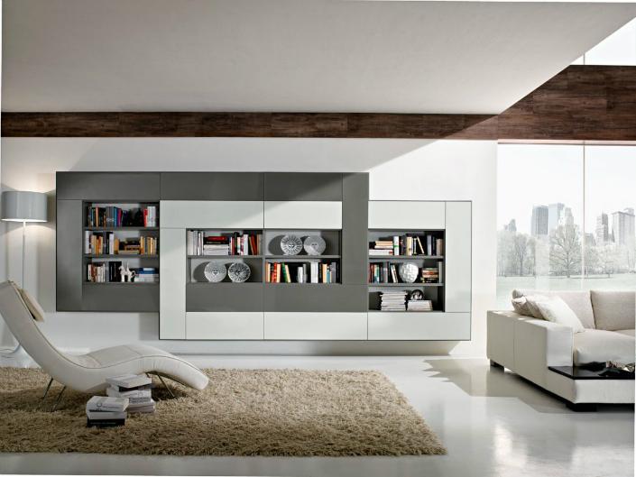 Living Room Modern Bookshelves   Thecreativescientist.com