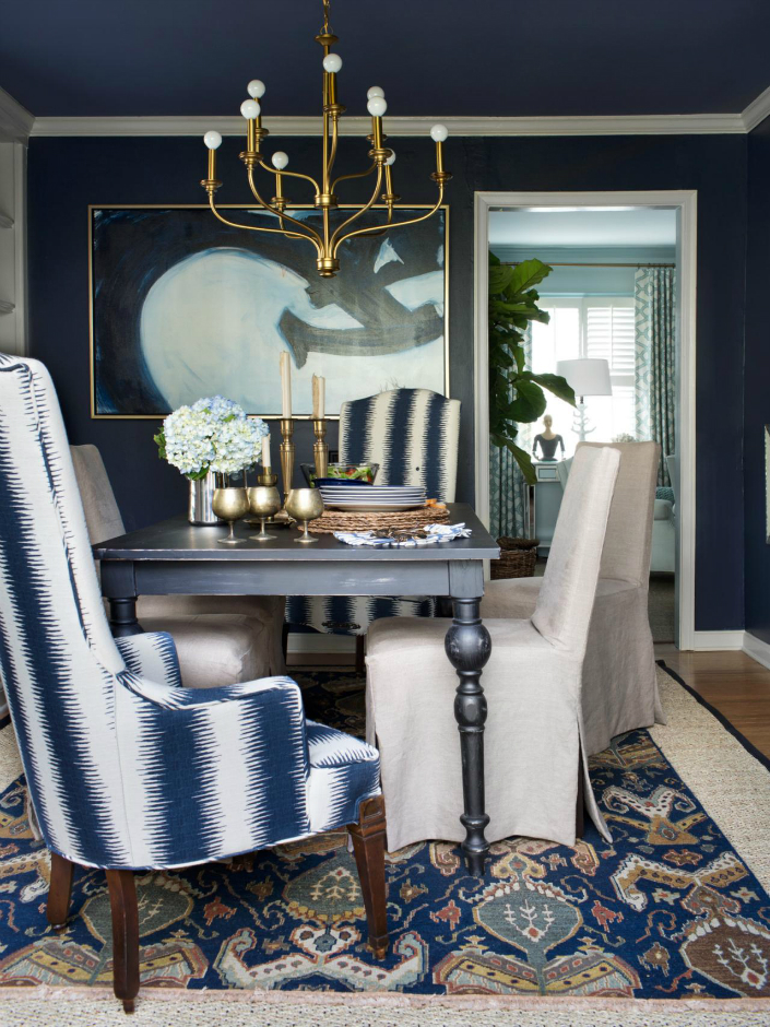 White Blue Armchairs For A Light