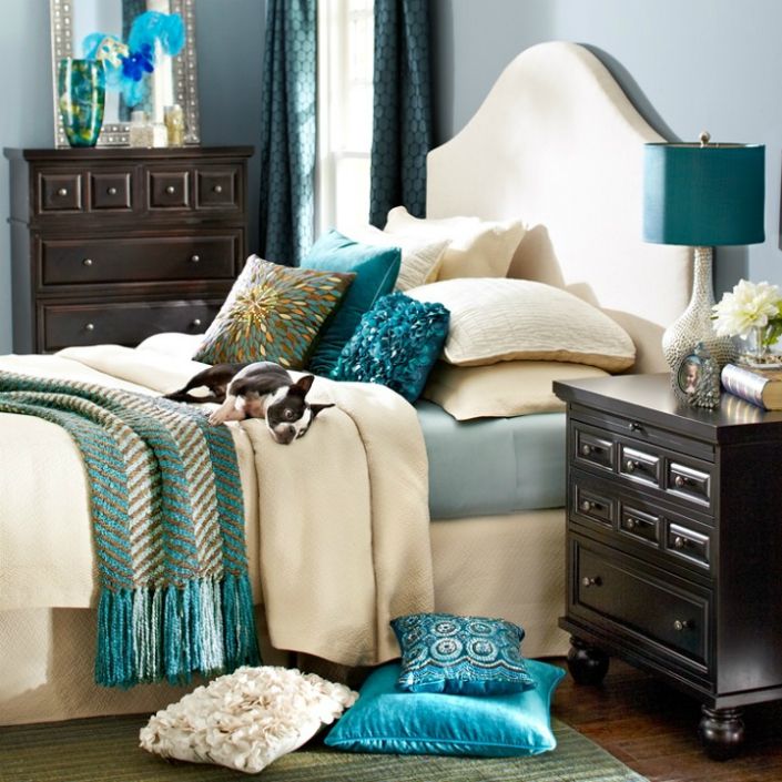 teal bedroom furniture use teal for an unique home decor 13476