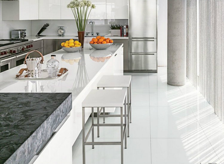 White marble in kitchen home inspiration ideas