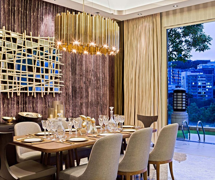 20 dining room inspirations to share with your friends Brubeck hanging dining sculptural lamp by Delightfull home inspiration ideas