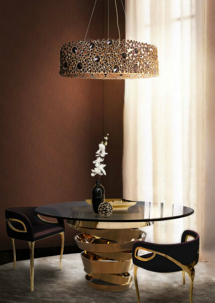 20 dining room inspirations to share with your friends Intuiton round dining table by Koket home inspiration ideas