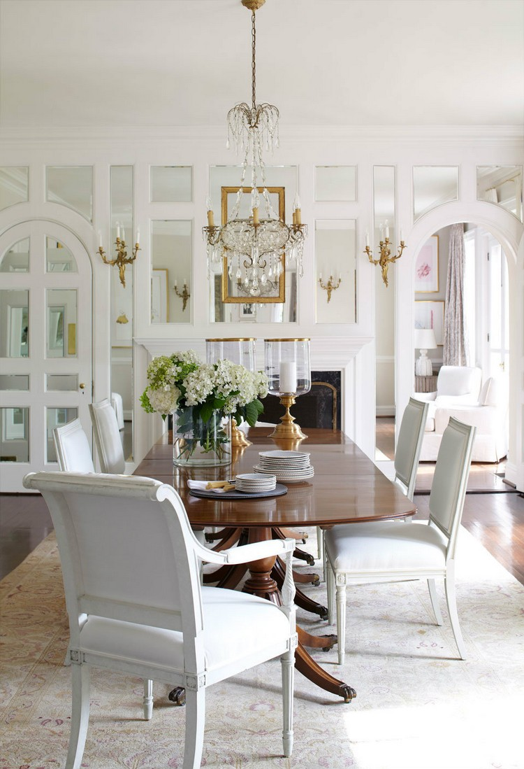 20 dining room inspirations to share with your friends mirrored drama home inspiration ideas