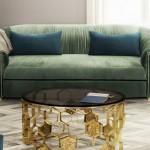 Manuka brass center table by BRABBU