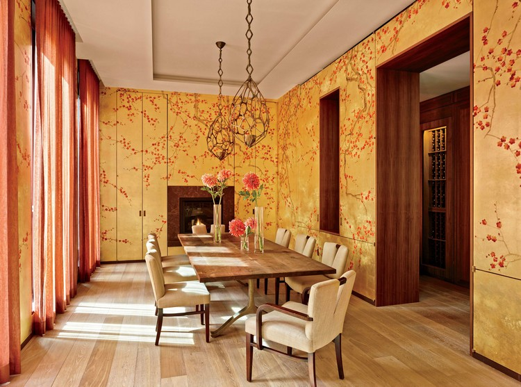 Home decorating ideas – 20 heavenly rooms with wallpaper De Gournay wallcovering ideas