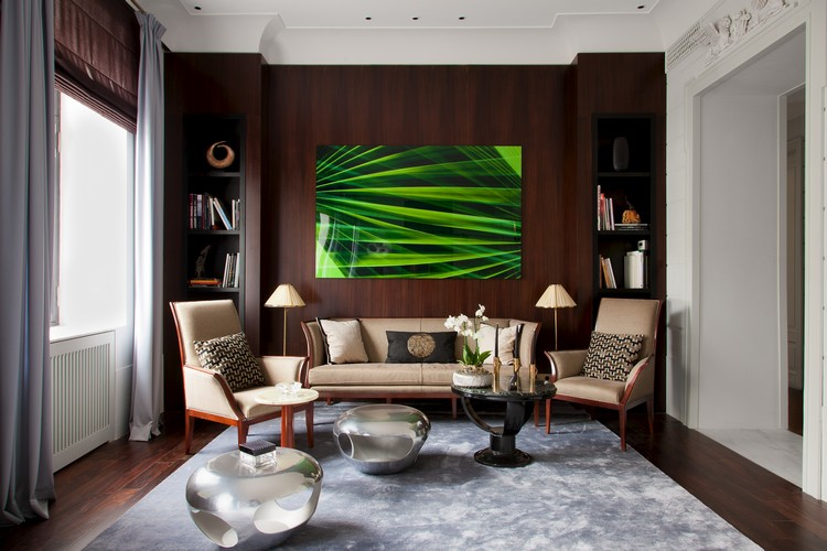 Art painting decor in a living room set by Maria Filippova home inspiration ideas