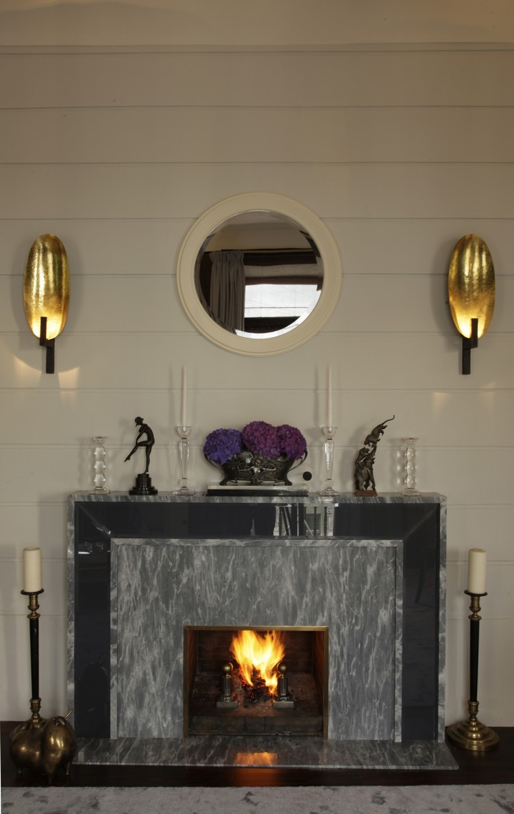 Living room wall lamps above a fireplace home inspiration ideas