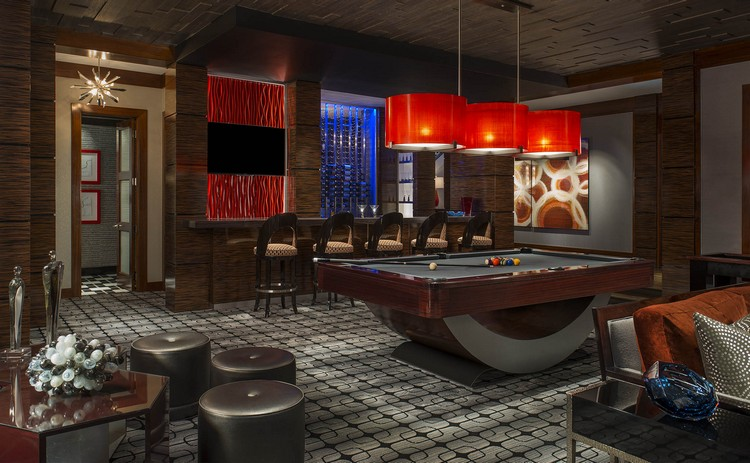Games room in a luxury interior residence designed by Dallas Design Group home inspiration ideas