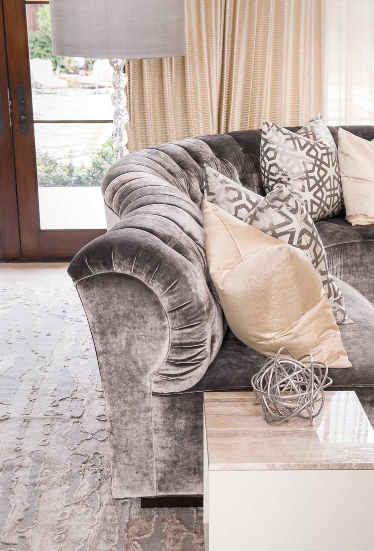 Upholstered modern grey sofa home inspiration ideas