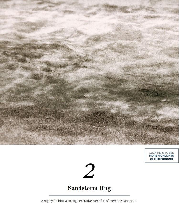 Sandstorm rug by BRABBU for living room areas home inspiration ideas