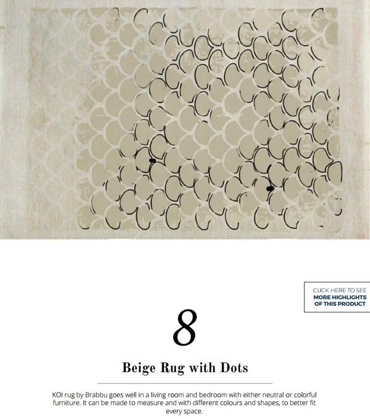 KOI living room rug by BRABBU home inspiration ideas