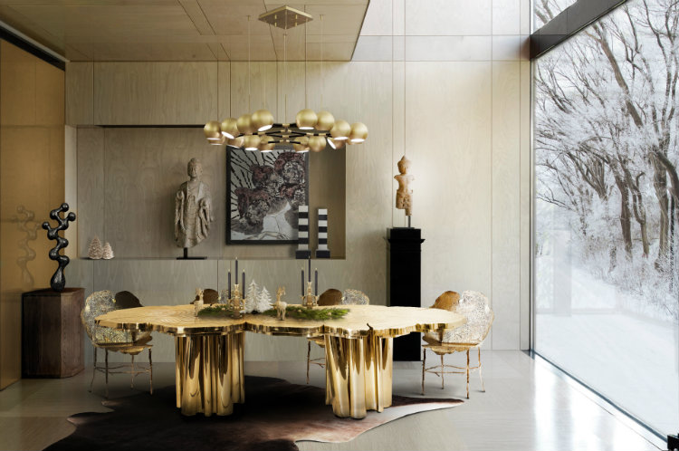 15 Luxury dining tables ideas that even pros will chase FORTUNA brass luxury dining table home inspiration ideas