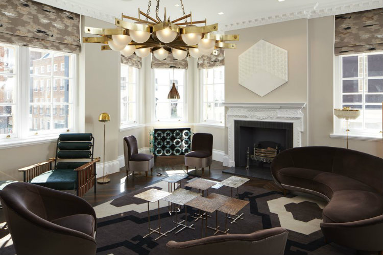 Modern sofas in a luxury London apartment home inspiration ideas