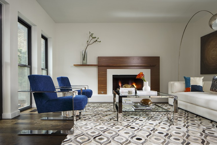 Best Pulp Design Studios inspirations - Living room seating area with blue modern chairs (1) home inspiration ideas