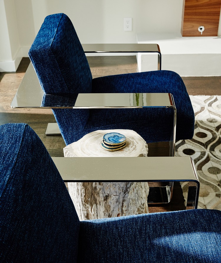 Best Pulp Design Studios inspirations - Living room seating area with blue modern chairs home inspiration ideas
