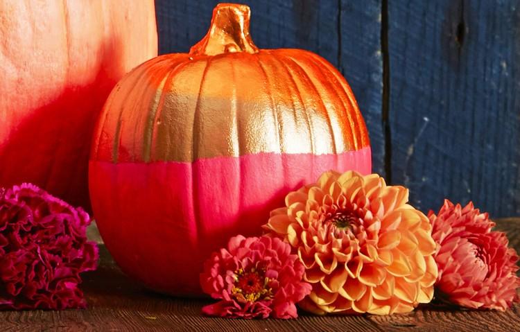 Color blocked pumpkin painting ideas home inspiration ideas