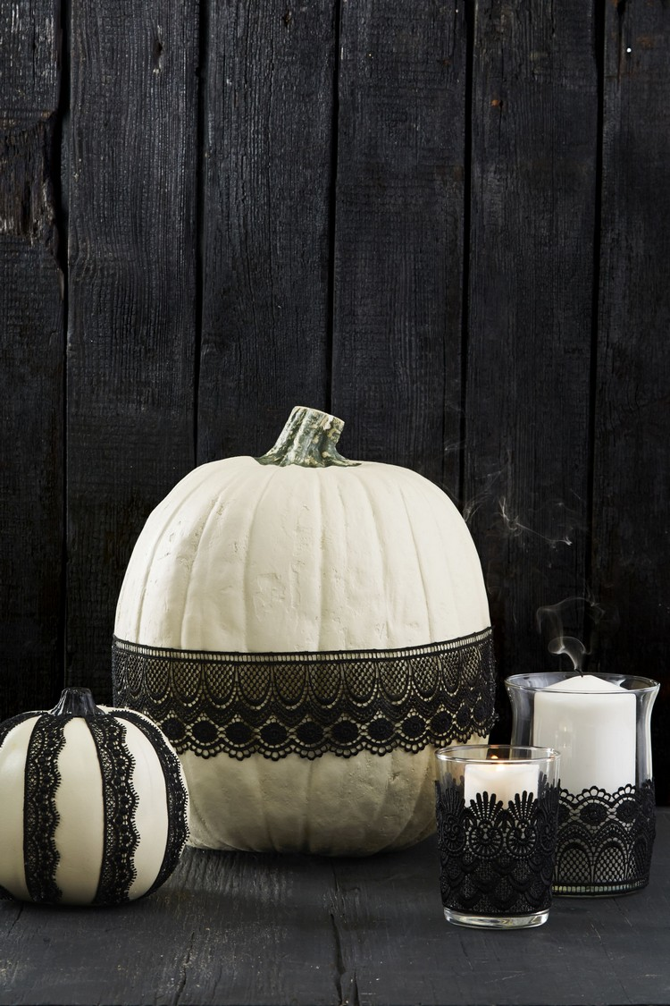 Pumpkins design ideas with laces home inspiration ideas
