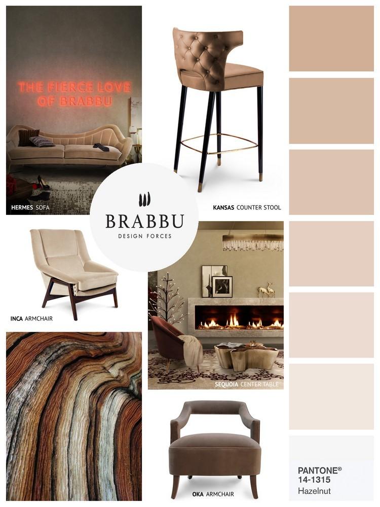 Pantone Spring colors 2017 HAZELNUT home inspiration ideas