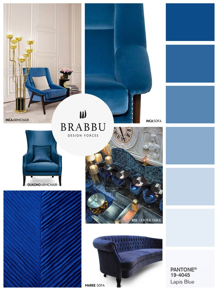 Pantone Spring colors 2017 LAPIS BLUE home inspiration ideas