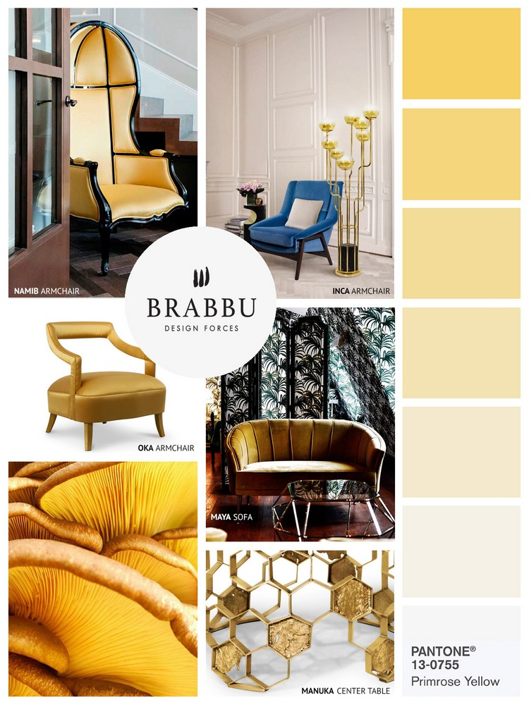 Pantone Spring colors 2017 PRIMROSE YELLOW home inspiration ideas