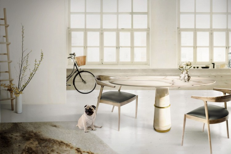 Marble dining round table ideas home inspiration ideas