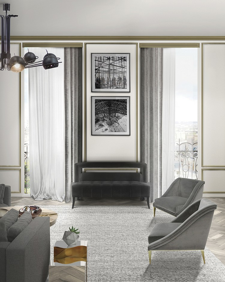 Living room ideas - Grey upholstery home inspiration ideas