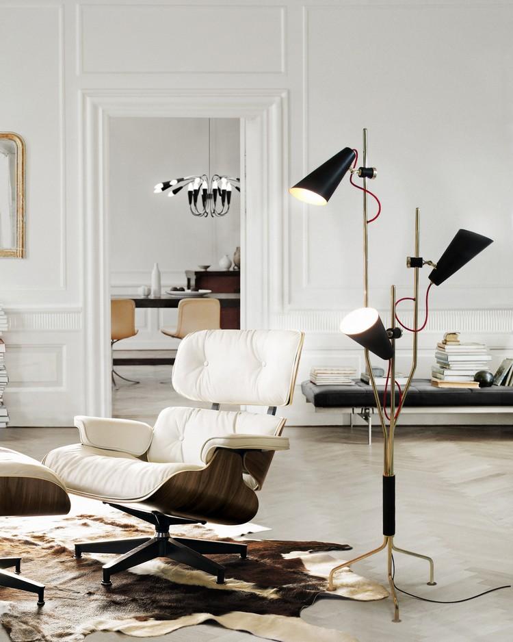 Midcentury floor lamp EVANS by Delightfull home inspiration ideas