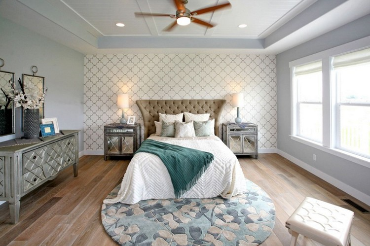 15 sucessfully and styilish bedroom round rugs ideas for pulling off Rug in Bedroom