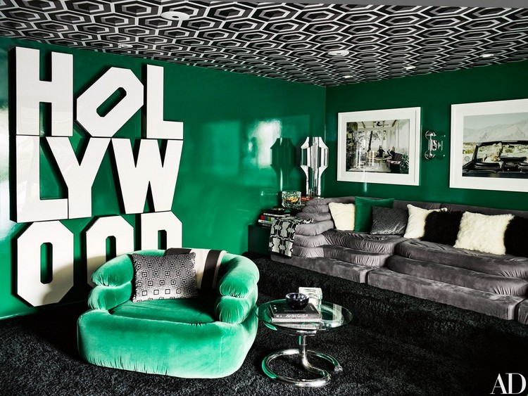 Emeral Green living room color scheme