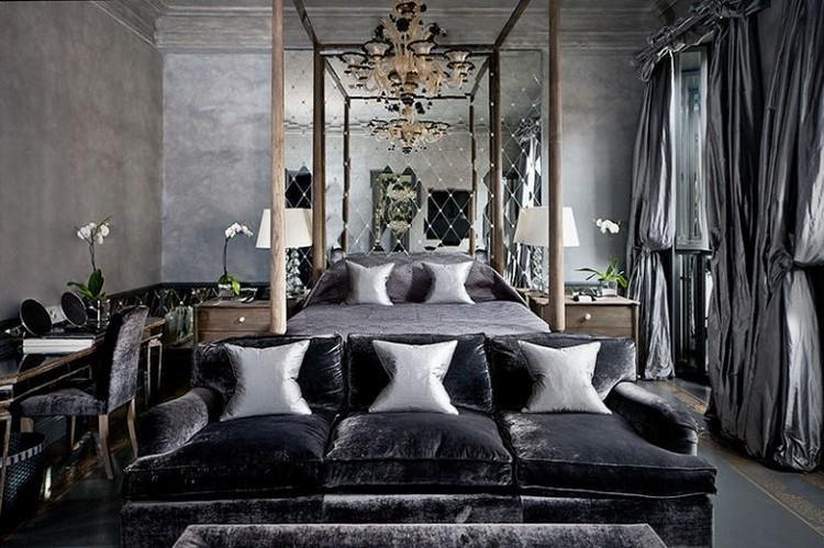 London luxury hotels - Black master bedroom ideas