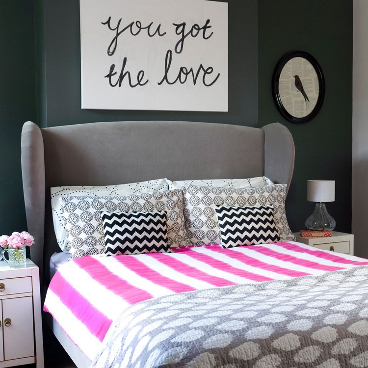 How to Bring a Pop of Color Into a Grey Modern Bedroom