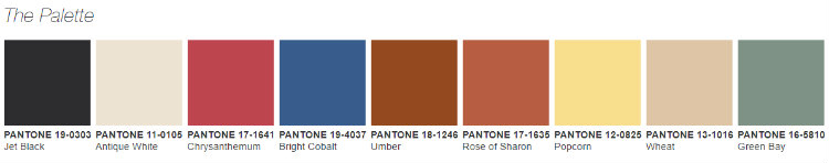 Pantone the Prints Charming Trend Palette home inspiration ideas